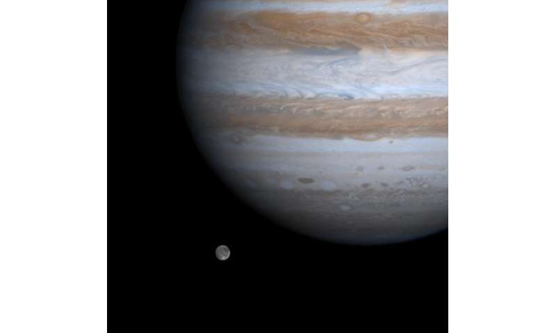 Icy moon of Jupiter, Ganymede, shows evidence of past strike-slip faulting