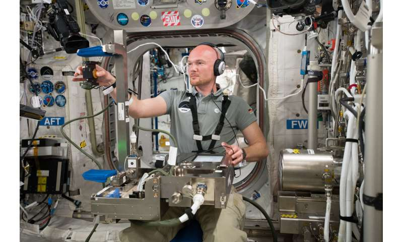 Image: A dexterous laboratory in space