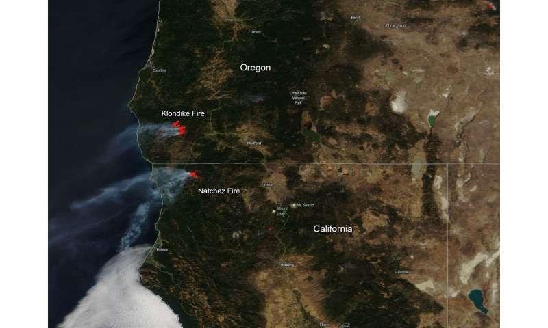 Image: California and Oregon fires still blazing