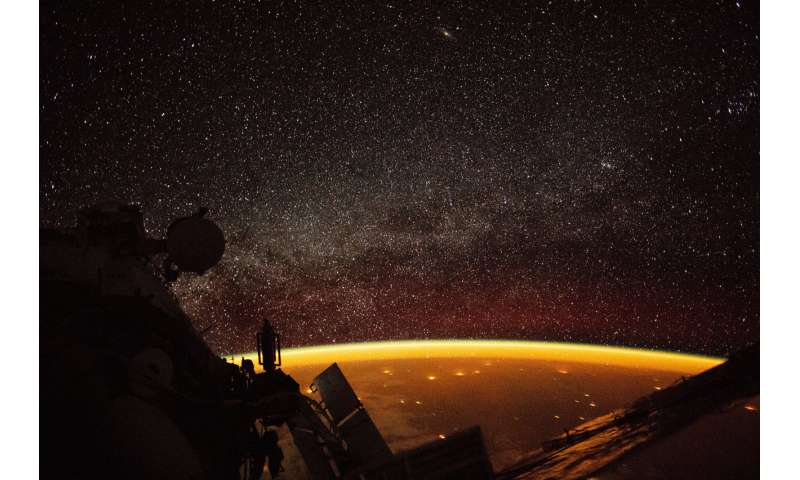 Image: Earth enveloped in airglow