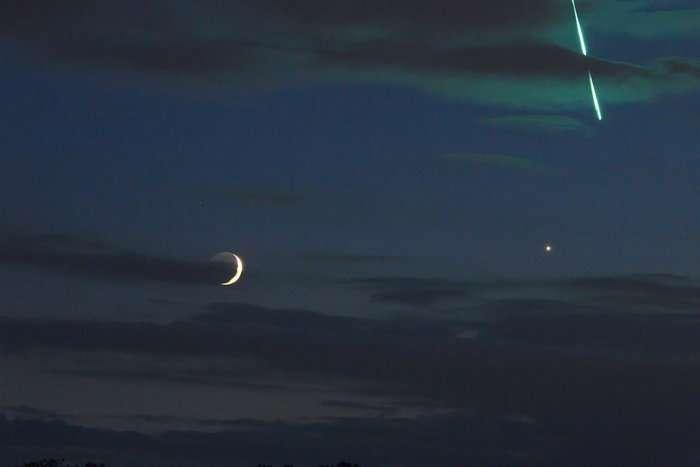 Image: Fireball moon Venus