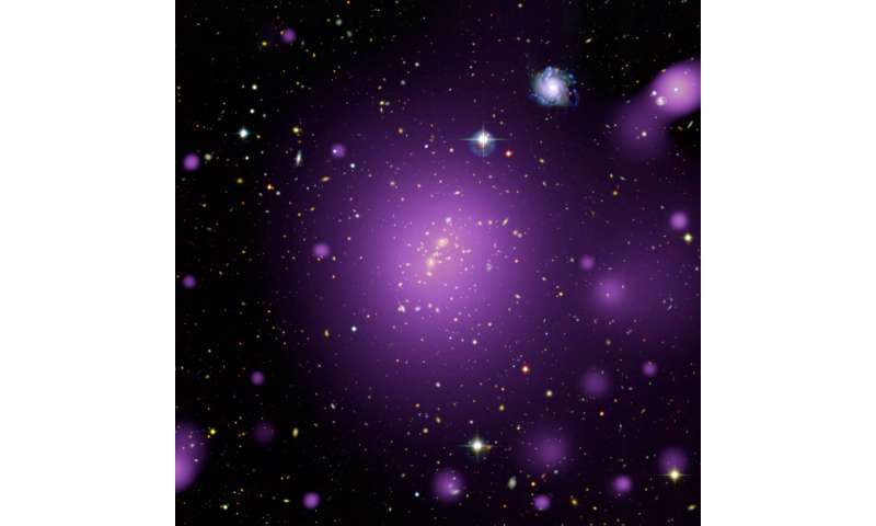 Image: Hot X-ray glow from massive cluster of galaxies