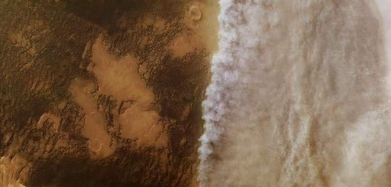 Image: Mars dust storm