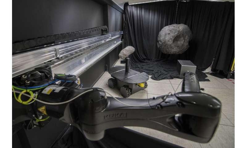 Image: Model binary asteroids