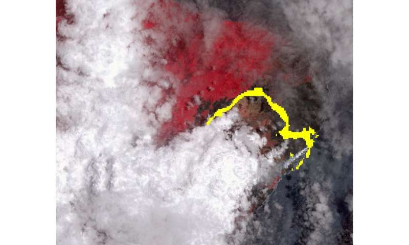 Image: NASA satellite image shows lava flow from Hawaii volcano