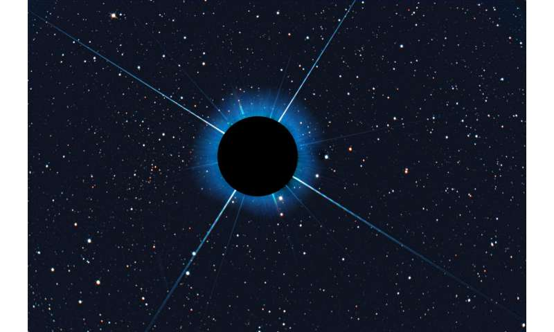 Image: Obscured Sirius reveals Gaia 1 cluster