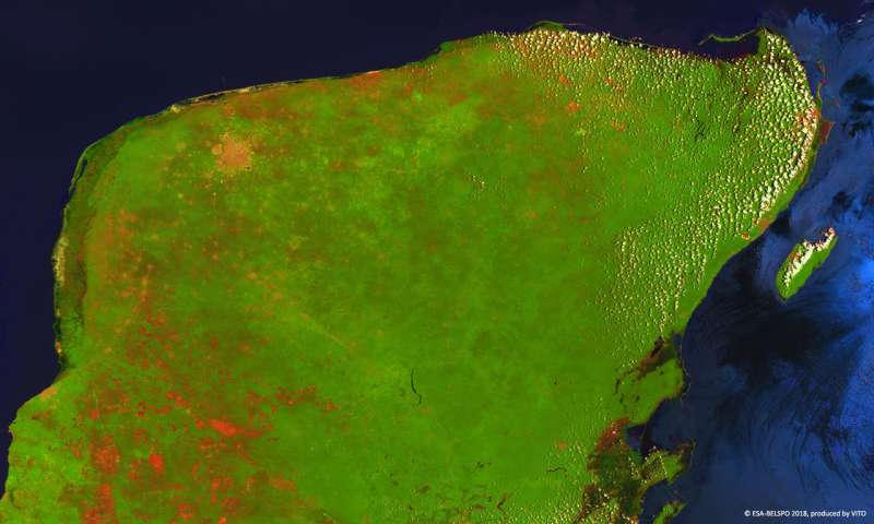 Image: Proba-V images the Yucatán peninsula