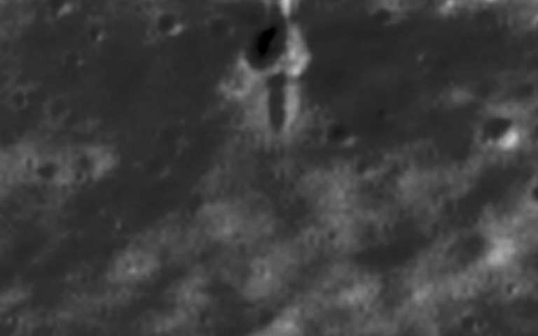 Image: SMART-1's crash site