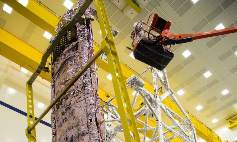 Image: Technicians ensure James Webb Space Telescope's sunshield survives stresses experienced during liftoff