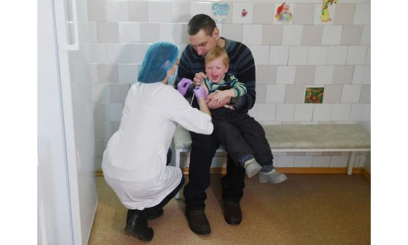 In 2017 almost 4,800 cases of measles and five fatalities were recorded in Ukraine