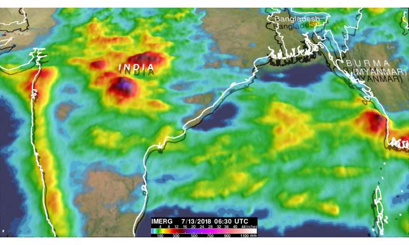 India's deadly monsoon rainfall measured with NASA's IMERG