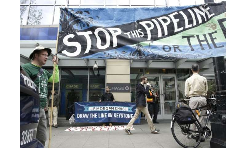 Indigenous and climate protesters have long been opposed to the Keystone XL pipeline