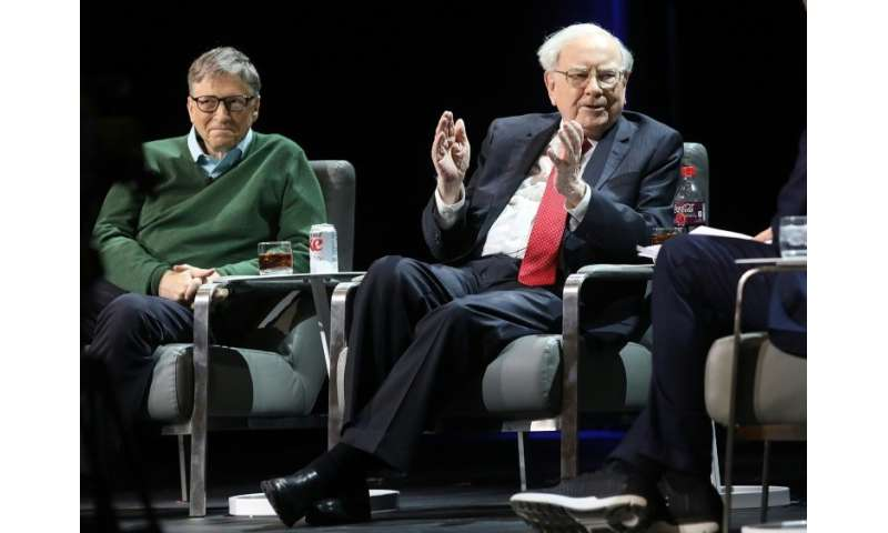 Investor Warren Buffett, seen here speaking at an event early last year in New York with fellow billionaire Bill Gates, says in