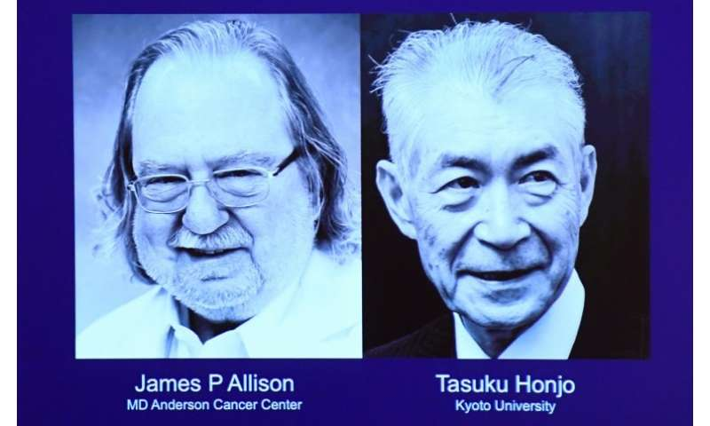 James Allison of the US and Tasuku Honjo of Japan have won the 2018 Nobel Medicine Prize