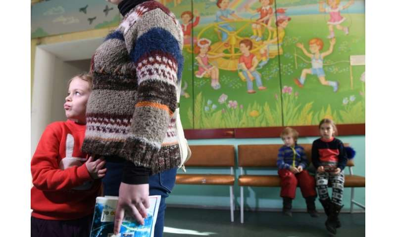 Just 42 percent of one-year-olds had been vaccinated against measles in Ukraine by the end of 2016, according to UNICEF