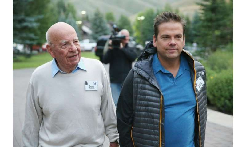Lachlan Murdoch, who shares the title of executive chairman of 21st Century Fox with his father Rupert Murdoch (L), has said the