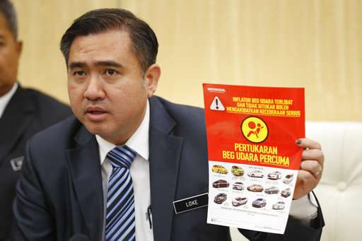Malaysia says over 350,000 cars yet to change Takata airbags