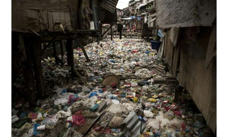 Manila authorities say the trash-choked creek is a breeding ground for illnesses like cholera and typhoid fever