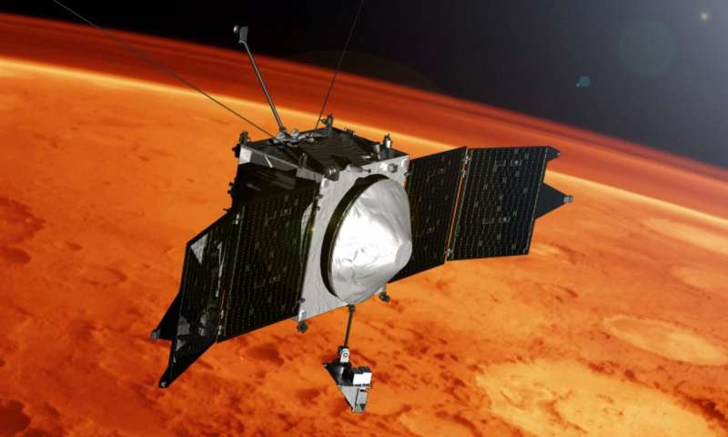MAVEN selfie marks four years in orbit at Mars