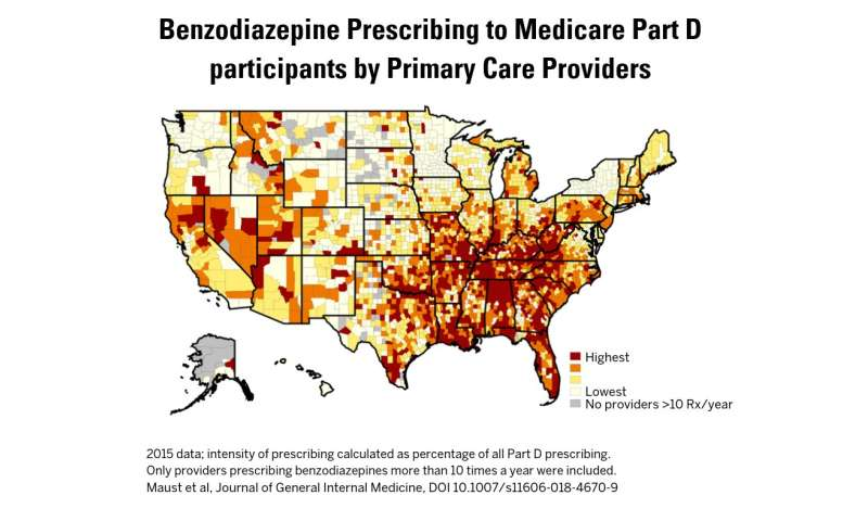 Medicating distress: Risky sedative prescriptions for older adults vary widely