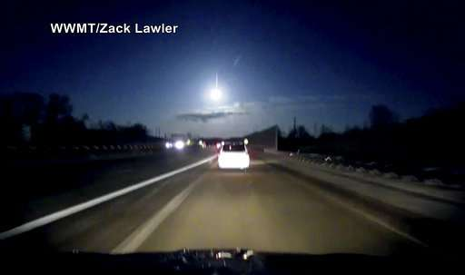 Meteor credited for bright light, noise rattling Michigan
