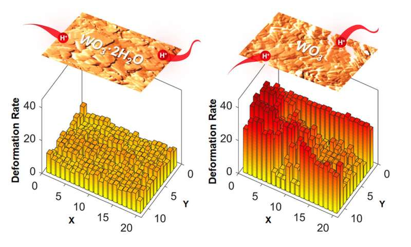 Microscopy advance reveals unexpected role for water in energy storage material
