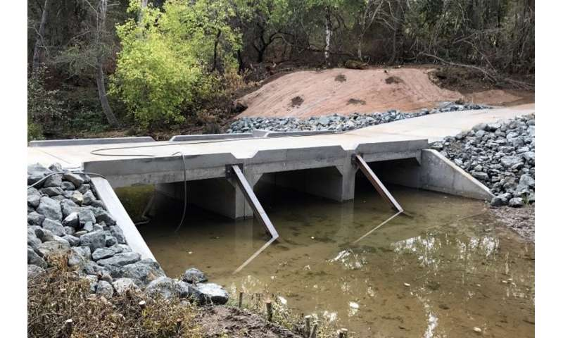Modifications enhance fish passage on San Francisquito Creek