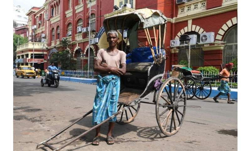 Mohammad Ashgar is one of the remaining Indian rickshaw pullers undertaking the gruelling trade