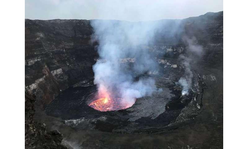 Monitoring lava lake levels in Congo volcano