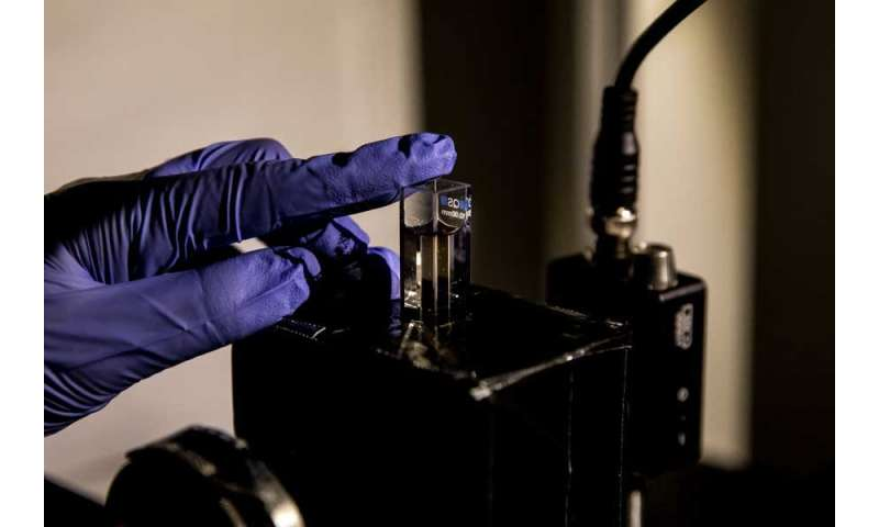 Nanoparticle gel controls twisted light with magnetism