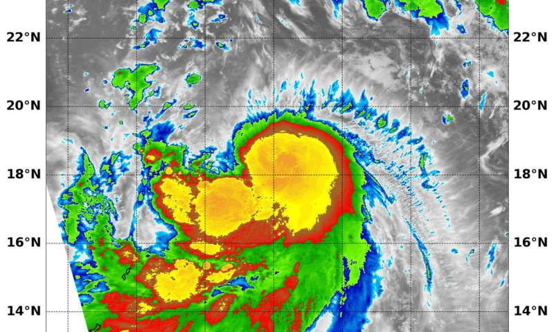 NASA finds power in Tropical Storm Shanshan's center
