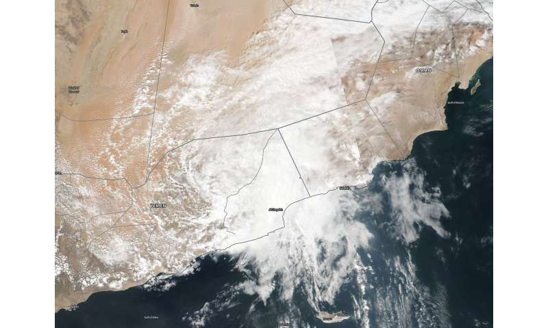 NASA finds remnants of Tropical Cyclone Luban near Yemen ... on detailed map of yemen, road map of yemen, outline map of yemen, terrain map of yemen, political map of yemen, physical map of yemen, topographic map of yemen,