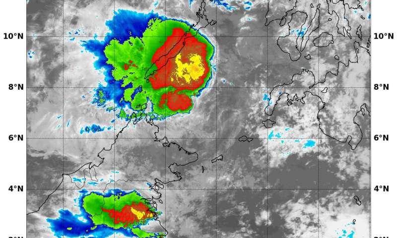 NASA finds strongest storms in weakening Tropical Cyclone Sanba