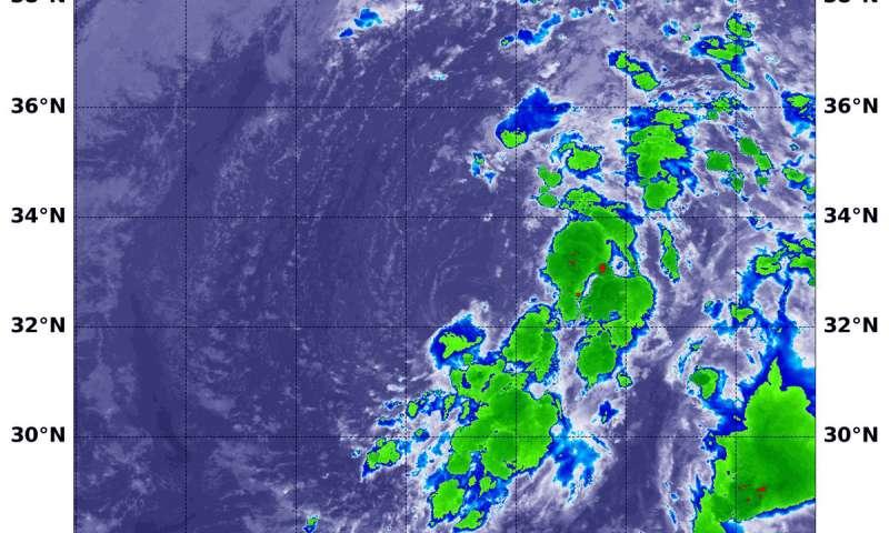 NASA gets a final look at Leslie as a subtropical storm