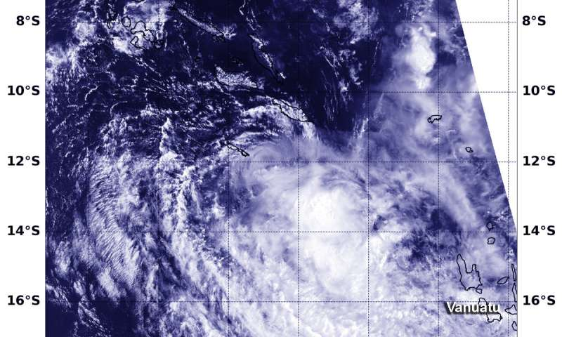 NASA identifies wind shear tearing apart Tropical Cyclone Liua