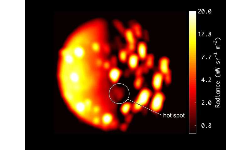 NASA Juno data indicate another possible volcano on Jupiter moon Io