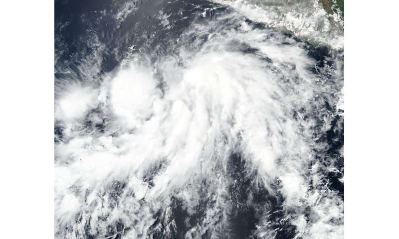 NASA observes the formation of Tropical Storm Aletta