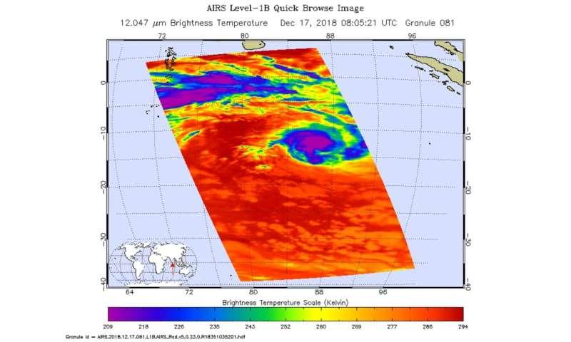 NASA's Aqua and GPM satellites examine Tropical Cyclone Kenanga