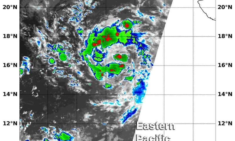 NASA sees formation of Eastern Pacific Tropical Depression 16E