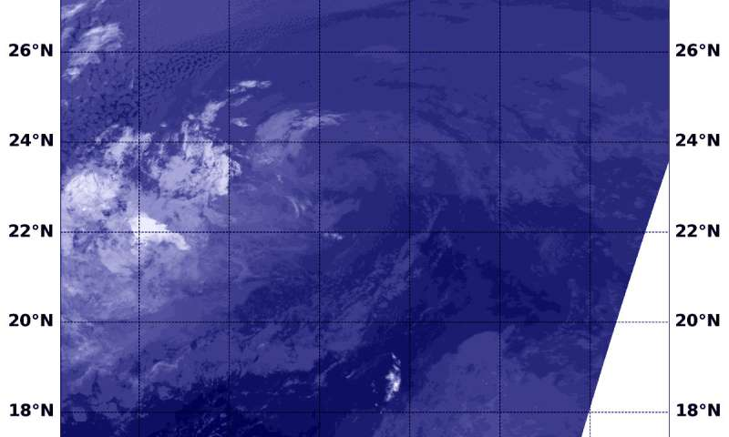 NASA sees Paul become a remnant low pressure area