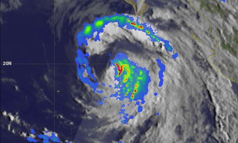 NASA's GPM passes over weakening Hurricane John