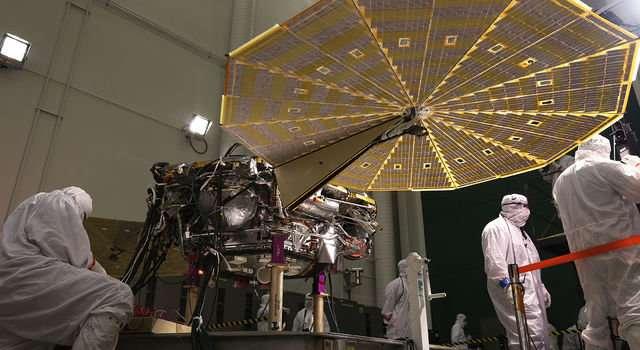 NASA's next Mars lander spreads its solar wings