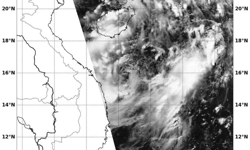 NASA spots tropical depression 05W approaching China's Hainan Island