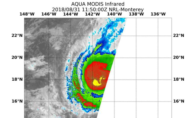 NASA tracking Hurricane Miriam in Central Pacific