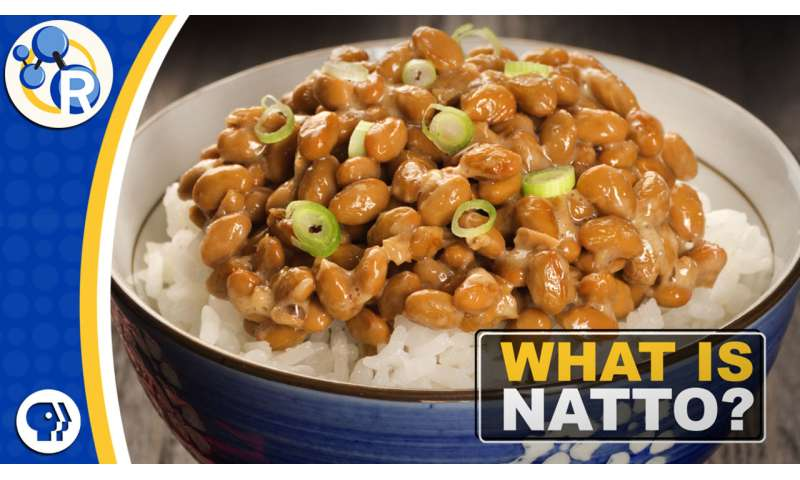 Natto, the stinky, slimy soybean snack (video)