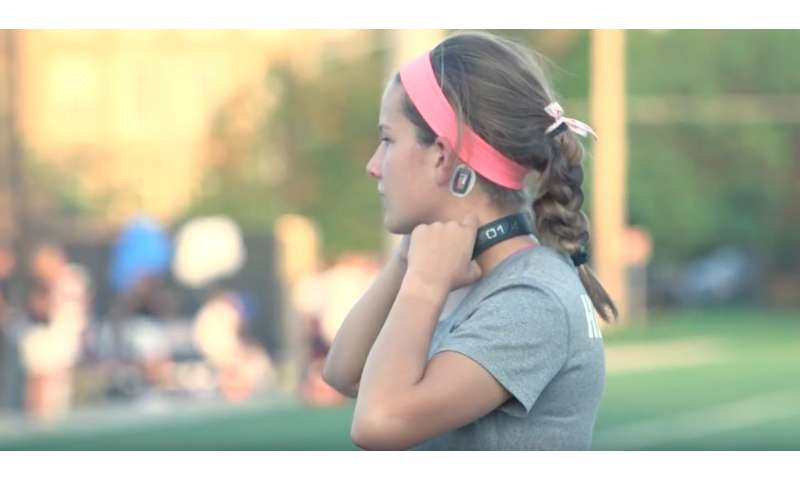 Neck device shows promise in protecting the brain of female soccer players