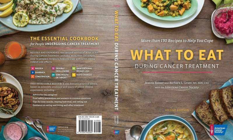 New American Cancer Society cookbook offers more than 130 recipes for cancer patients
