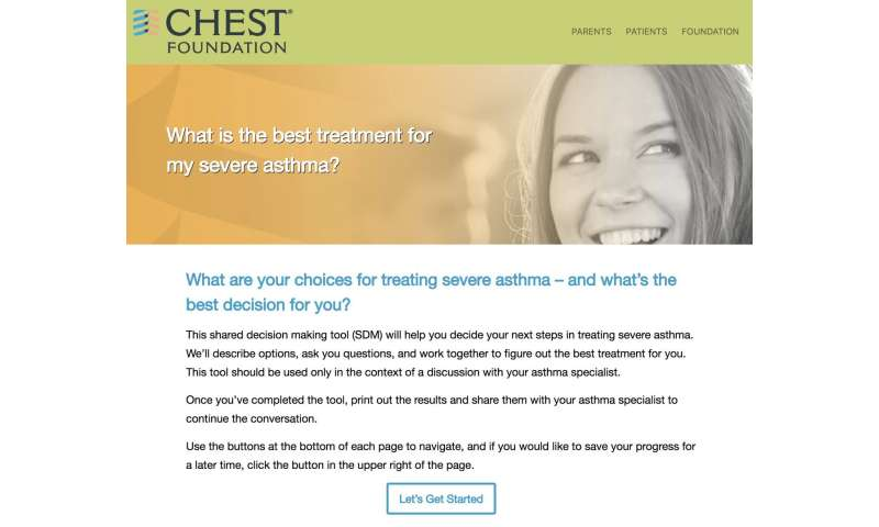 New asthma tool determines best treatment for severe asthma patients