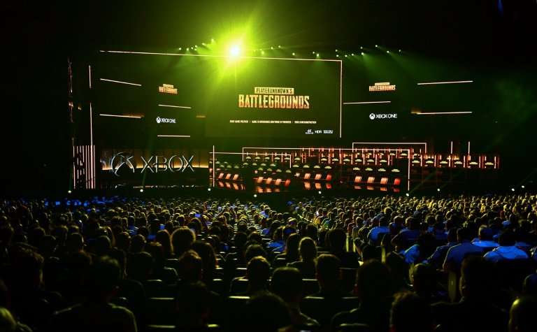 New games are introduced to the audience at the Xbox 2018 E3 briefing in Los Angeles, California on June 10, 2018, ahead of the
