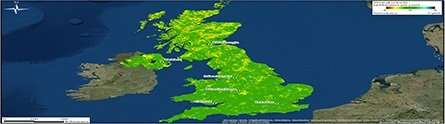 New land motion map shows the human impact on the UK landscape